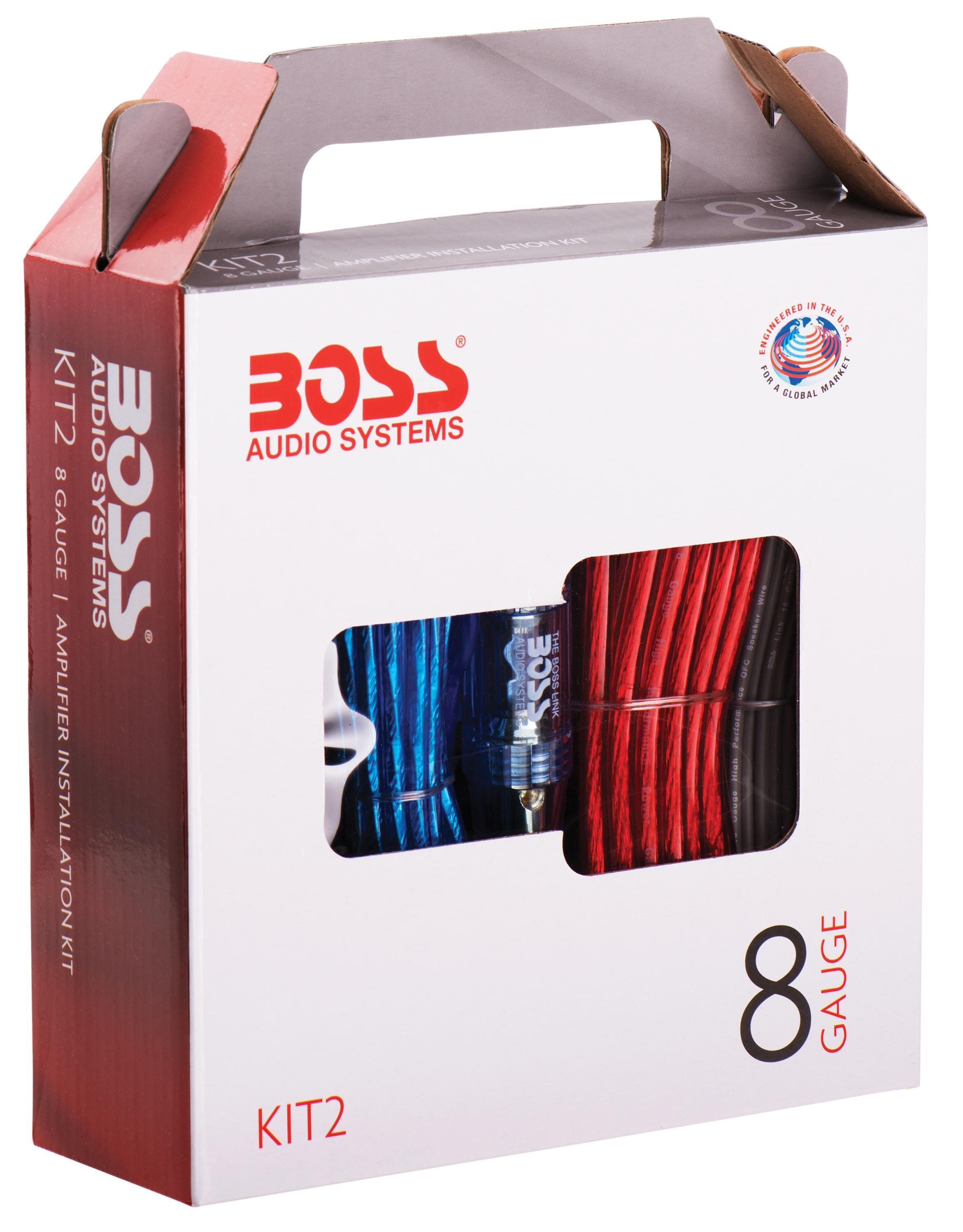 BOSS AUDIO KIT2 8 Gauge/ 3,27 mm Auto Installations-Set: Amazon.de ...