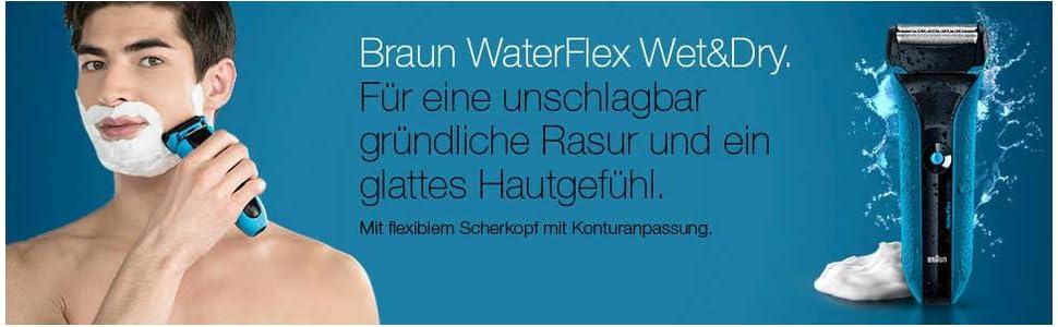 Braun WaterFlex WF2s Wet&Dry Rasierer (flexibler Scherkopf)
