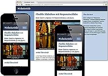 Screenshot einer responsve Website