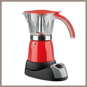 GOURMETmaxx 02609 Elektrischer Espressokocher | 6 Tassen