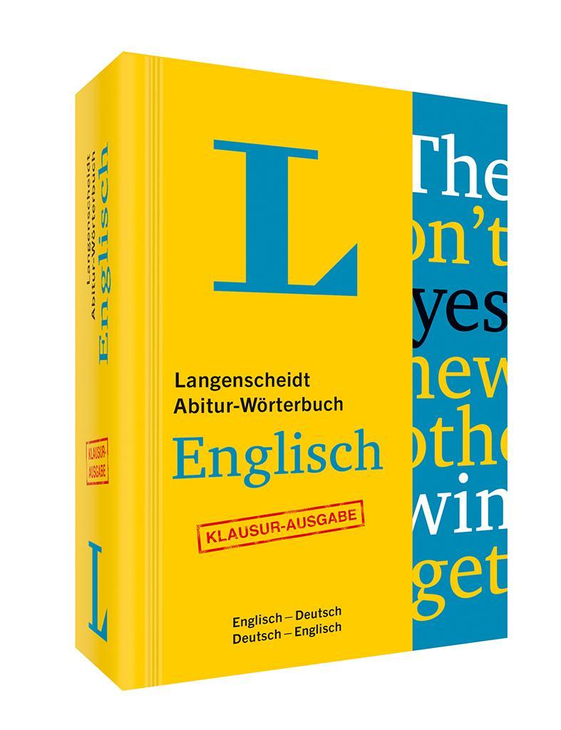 Langenscheidt abitur w rterbuch englisch buch mit online for Dictionary englisch deutsch