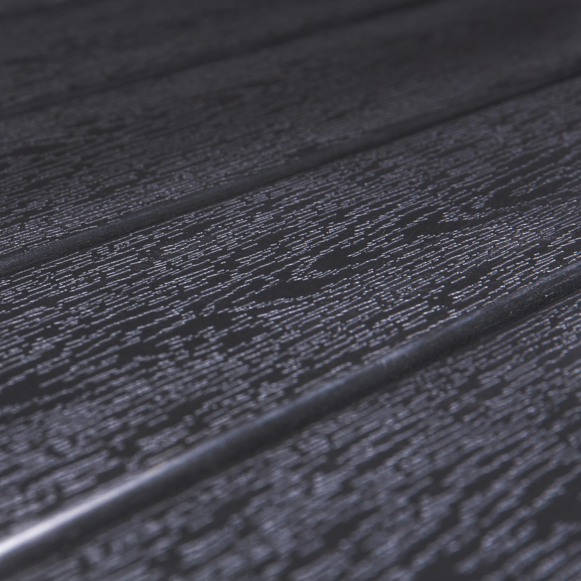 Vanage alu gartentisch helsinki in schwarz polywood for Garten planen mit balkon alu holzoptik