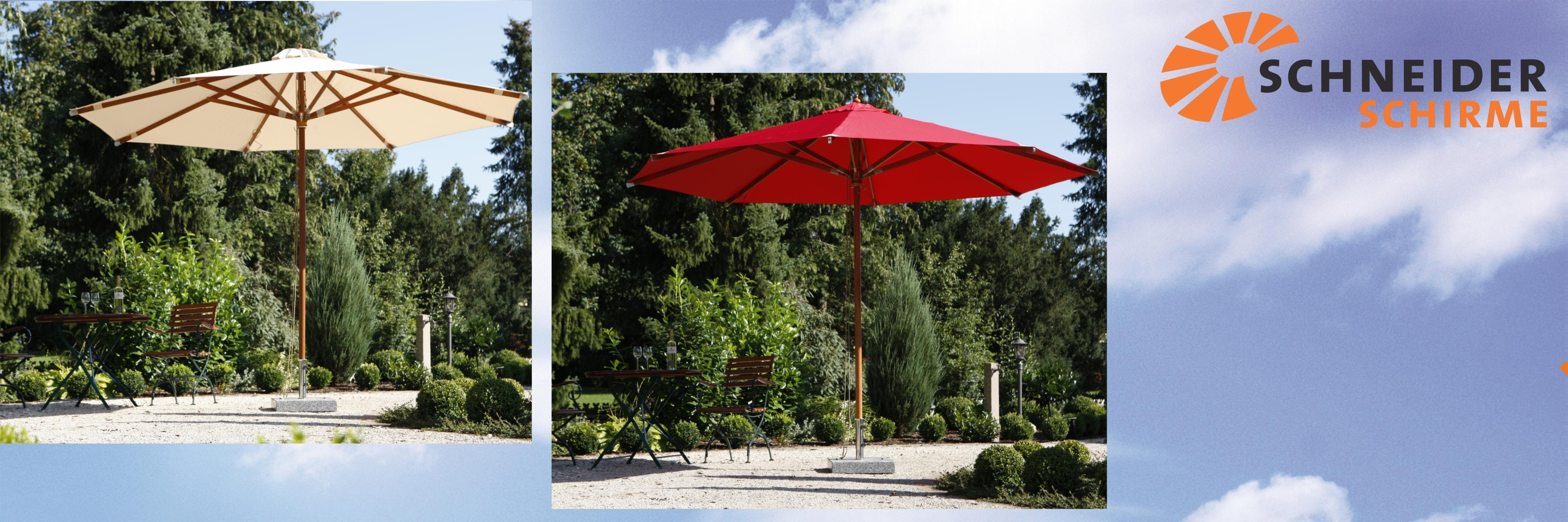 Amazon De Schneider Sonnenschirm Nizza Rot Ca 350 Cm O 8 Teilig