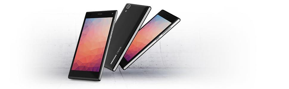 Medion 30019693 P5005 Smartphone 5 Zoll schwarz: Amazon.de