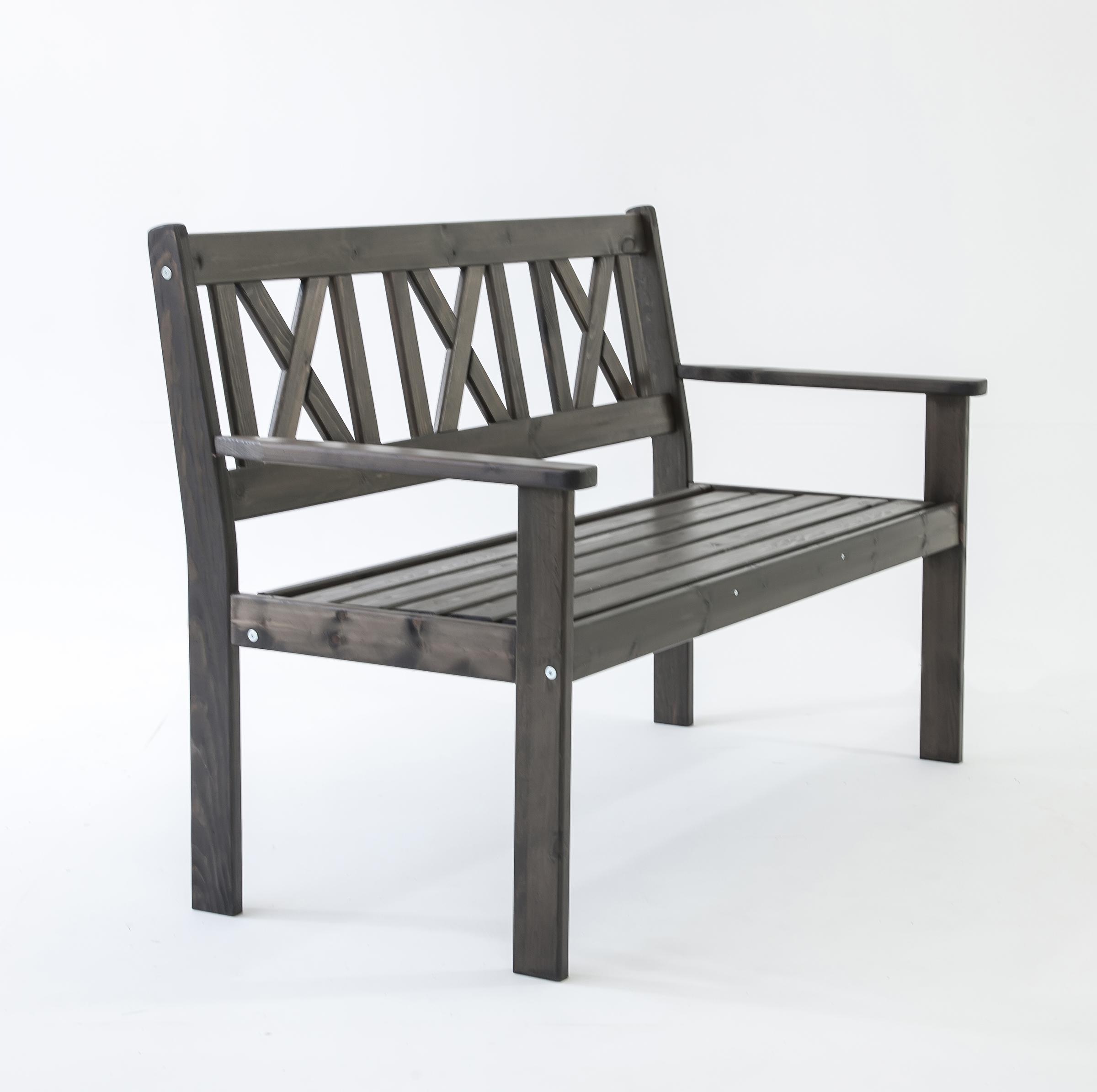 ambientehome gartenbank 2 sitzer bank massivholz holzbank evje taupegrau. Black Bedroom Furniture Sets. Home Design Ideas