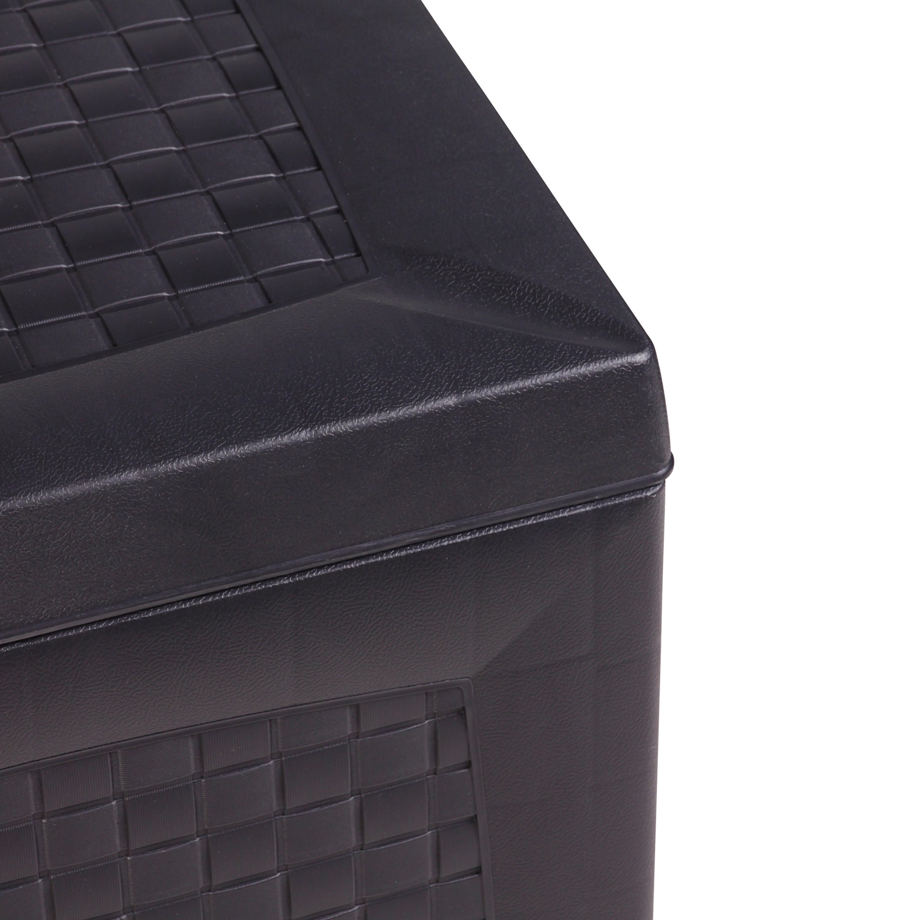 vanage aufbewahrungsbox hippo aus kunststoff schwarz 120 x 52 x 60 cm garten. Black Bedroom Furniture Sets. Home Design Ideas