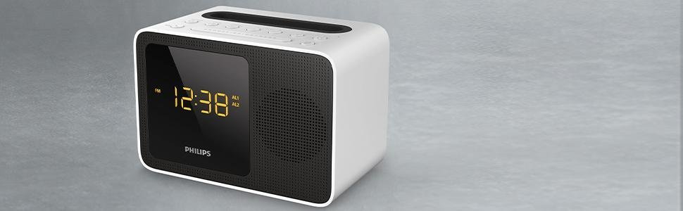 neu ovp philips ajt5300w radiowecker mit bluetooth ukw. Black Bedroom Furniture Sets. Home Design Ideas