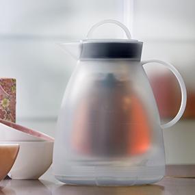 alfi isolierkanne dan tea kunststoff wei 1 0 l k che haushalt. Black Bedroom Furniture Sets. Home Design Ideas