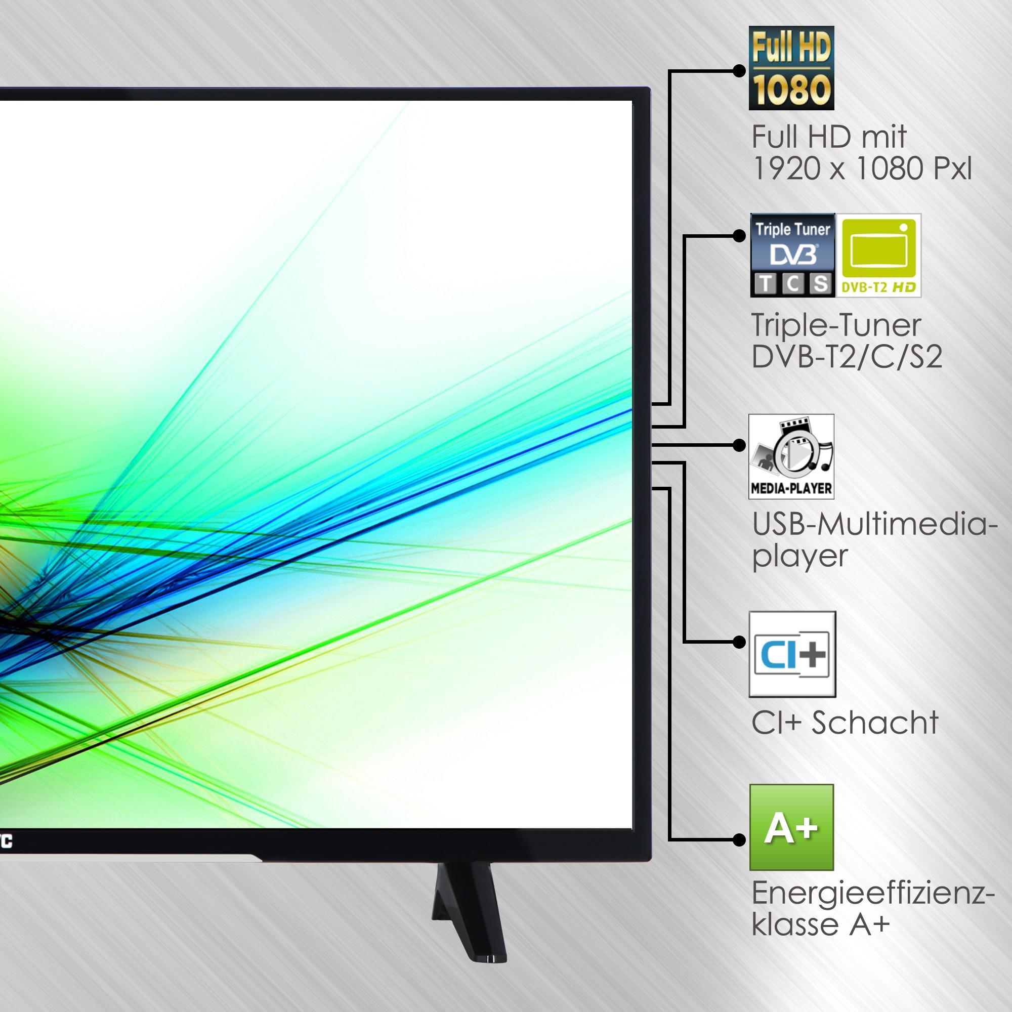 jvc lt 43vf43a 110 cm fernseher elektronik. Black Bedroom Furniture Sets. Home Design Ideas