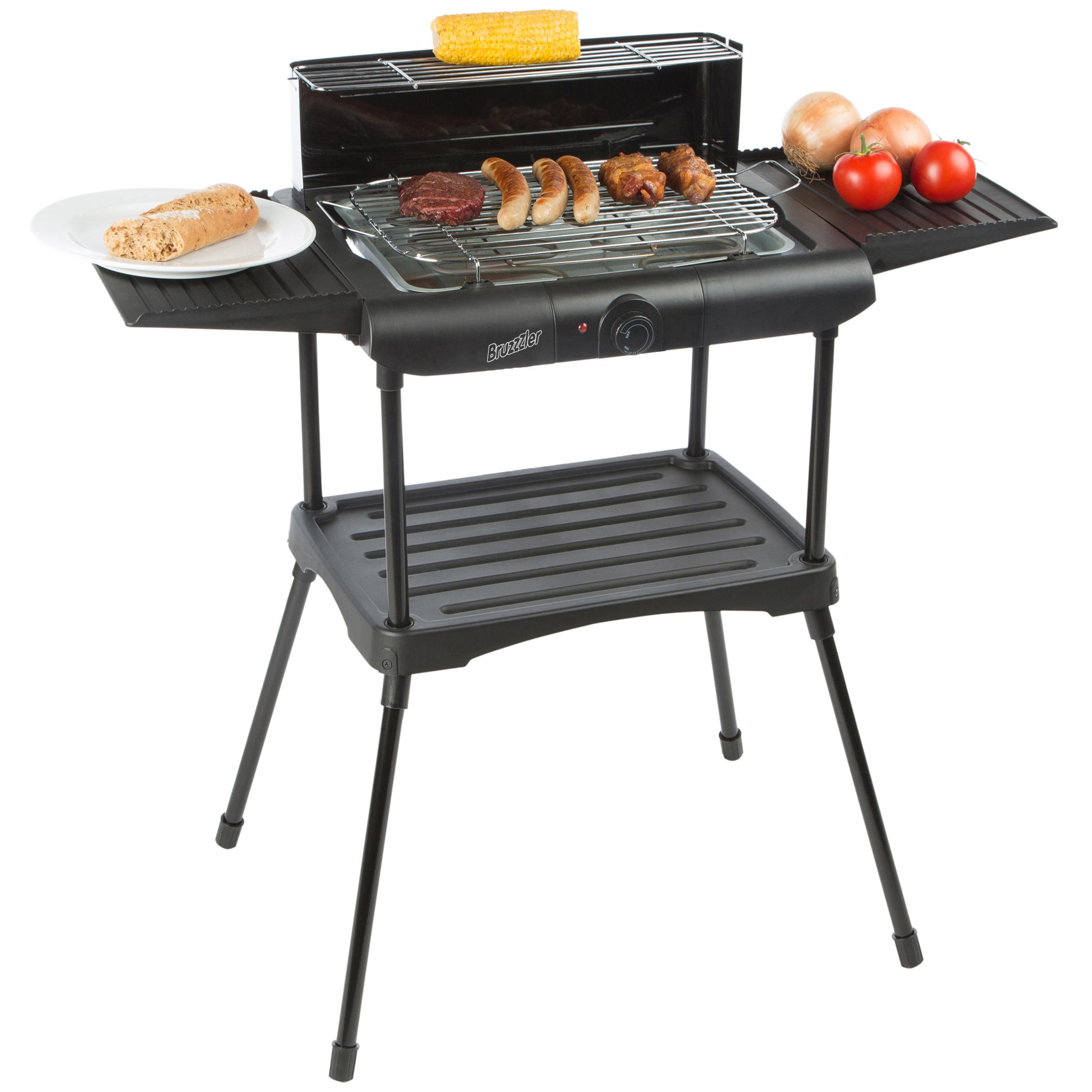 bruzzzler bbq elektrogrill f r raucharmes grillen standgrill elektrisch 2000 watt barbecue. Black Bedroom Furniture Sets. Home Design Ideas