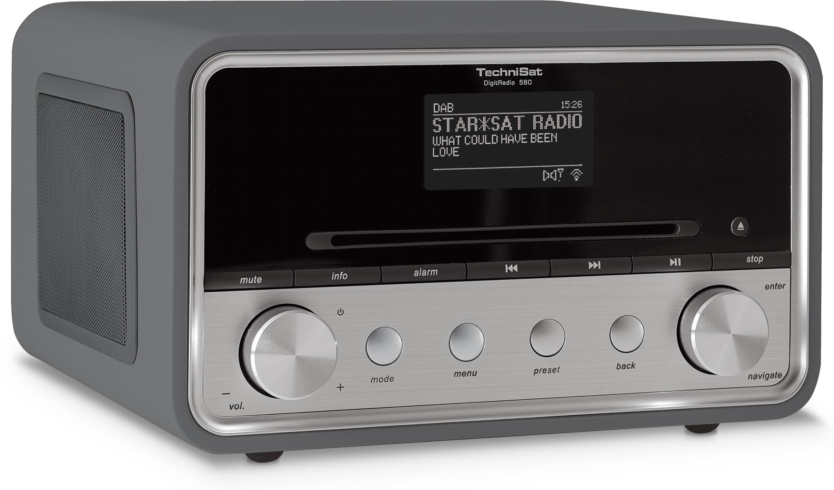 technisat digitradio 580 stereo digitalradio mit cd player dab ukw internetradio. Black Bedroom Furniture Sets. Home Design Ideas