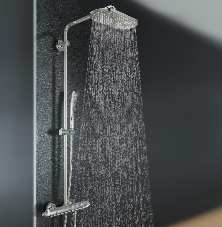 grohe rainshower 310 brause und duschsysteme duschsystem mit thermostat 27472000 amazon. Black Bedroom Furniture Sets. Home Design Ideas
