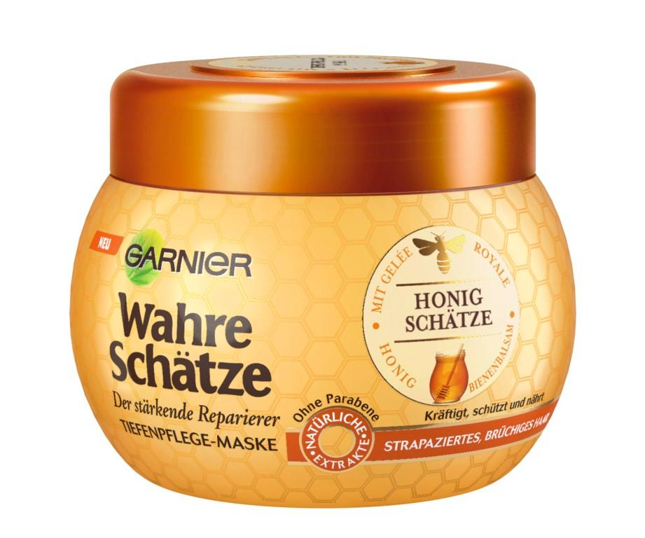 garnier wahre sch tze haar maske haarkur f r intensive haarpflege 1er pack 1 x 300 ml. Black Bedroom Furniture Sets. Home Design Ideas