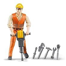 Bauarbeiter mit Zubehör von Bruder