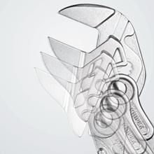 Knipex Zangenschlüssel 86 03 250 - Schnelle Druckknopfverstellung