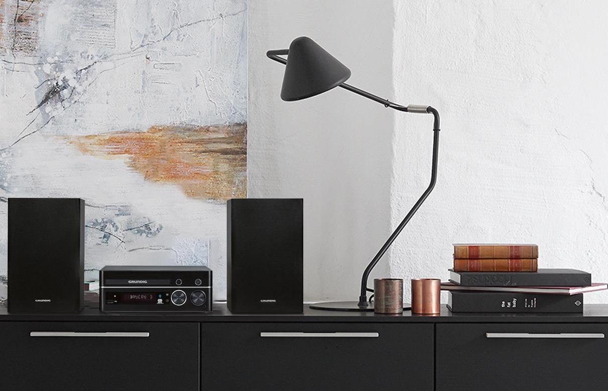 grundig m 1100 design micro anlage schwarz elektronik. Black Bedroom Furniture Sets. Home Design Ideas