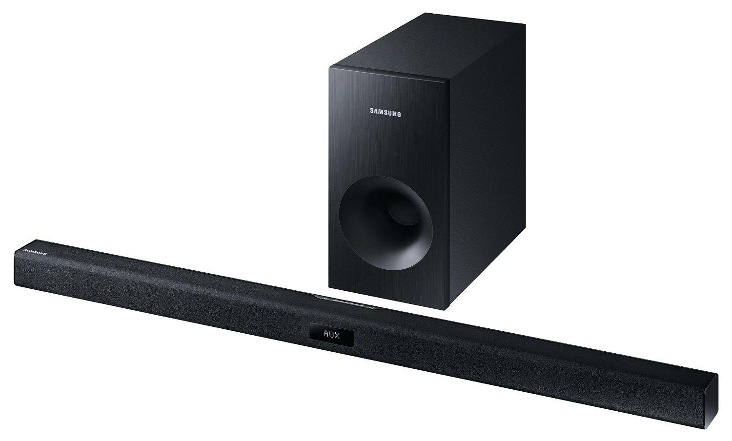 samsung hw j355 2 1 soundbar 120w passiver subwoofer bluetooth schwarz heimkino. Black Bedroom Furniture Sets. Home Design Ideas