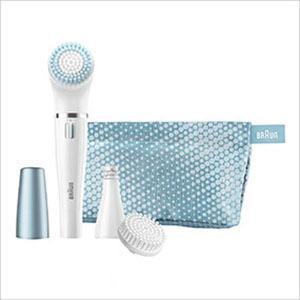 Braun 832E Face Gesichtsepilierer und Reinigungsbürste für Mischhaut, blau