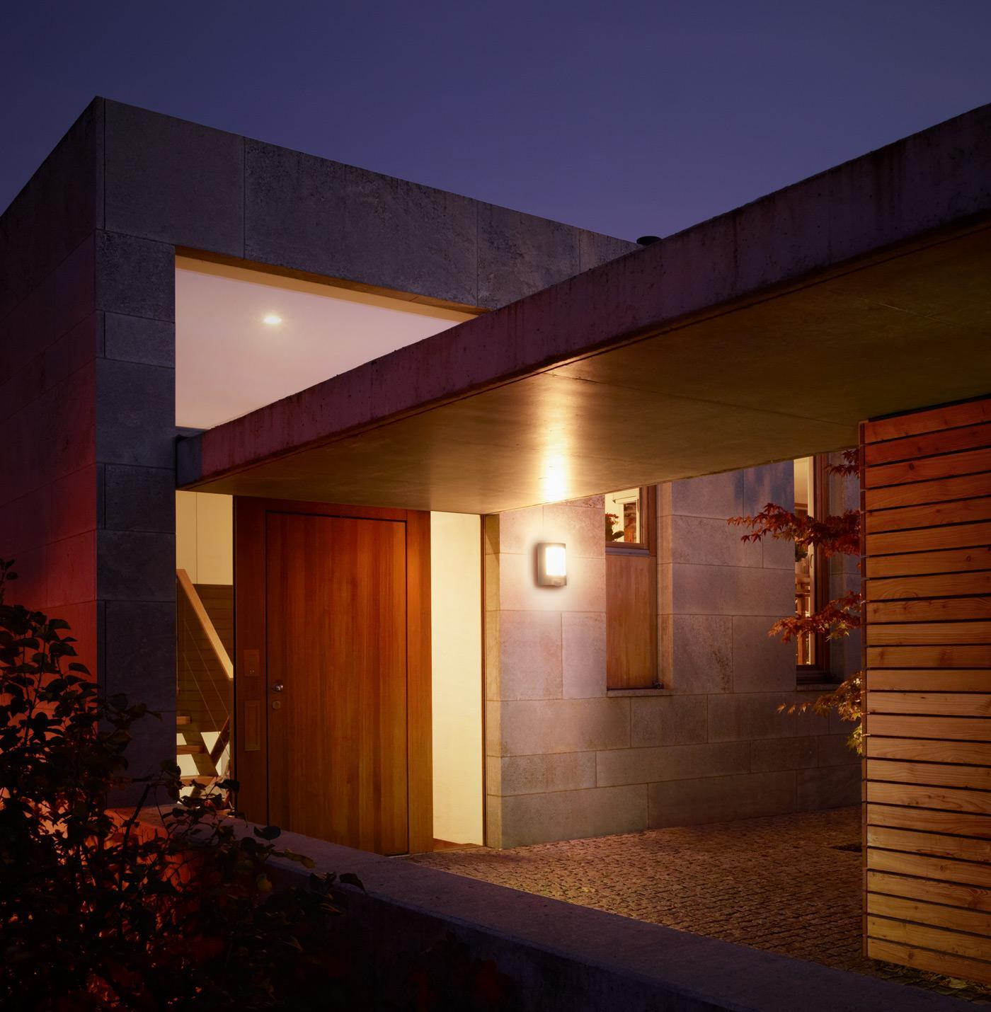 Wandlampe Fassade Haus Außenwandleuchten Set mit Bewegungsmelder und E27 LEDs
