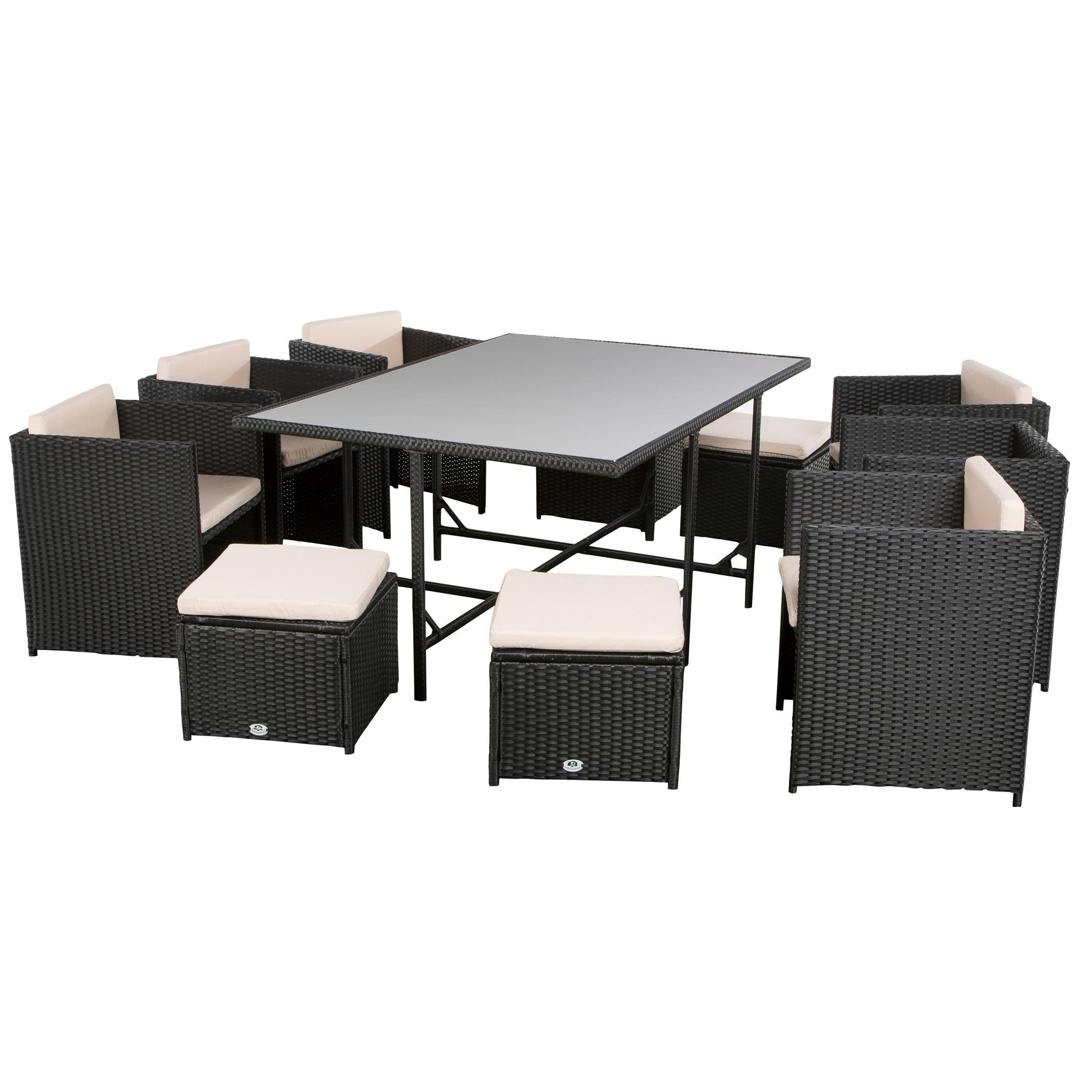 ultranatura poly rattan lounge set palma serie 11 teilig 1 tisch 6 sessel 4. Black Bedroom Furniture Sets. Home Design Ideas
