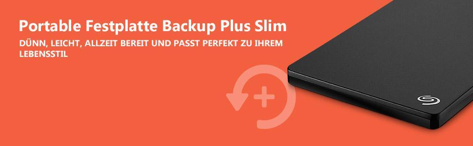 Portable Festplatte Backup Plus Slim