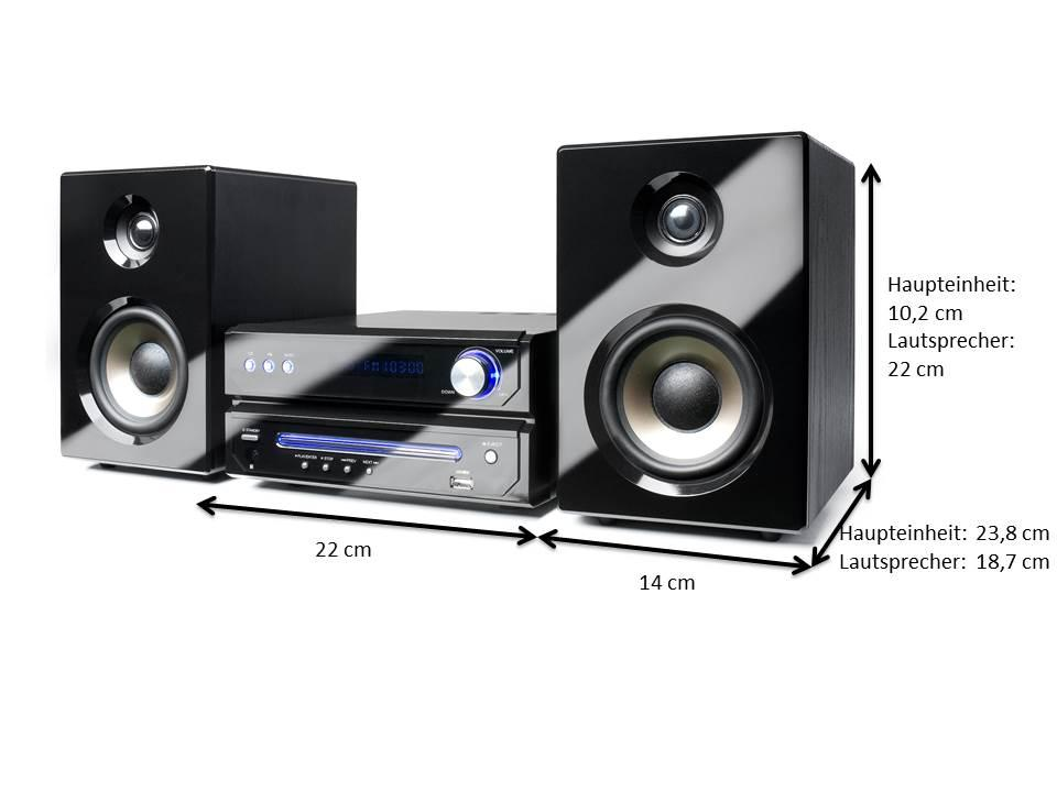 dual ms 110 cd stereoanlage mit flt display cd player. Black Bedroom Furniture Sets. Home Design Ideas