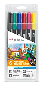 Tombow Dual Brush Pen Primärfarben Set