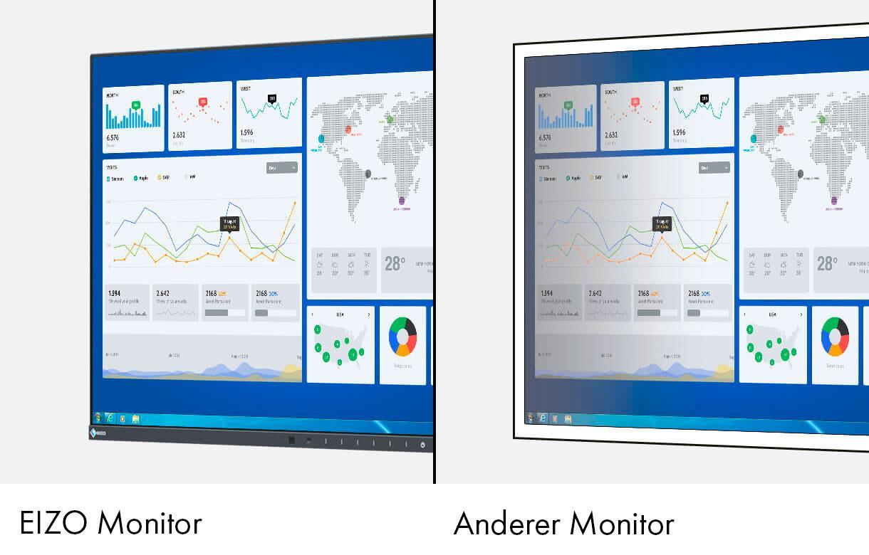 EIZO EV2456 BK LCD Monitor 61.2cm 24.1 Zoll 1920x1200