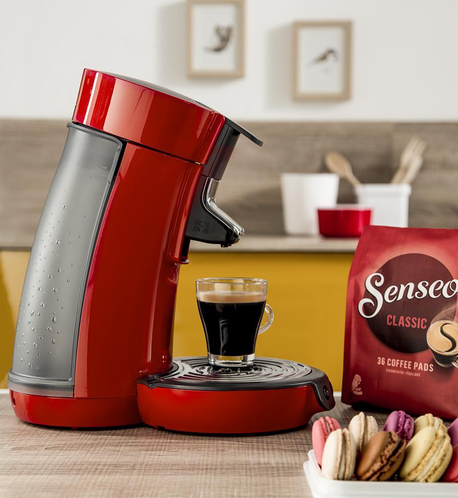 philips senseo hd7825 80 viva caf kaffeepadmaschine kalkindikator rot ebay. Black Bedroom Furniture Sets. Home Design Ideas
