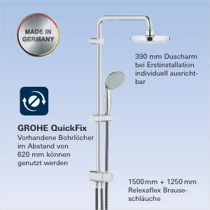 grohe tempesta flex 180 system mit umstellung 26381000. Black Bedroom Furniture Sets. Home Design Ideas