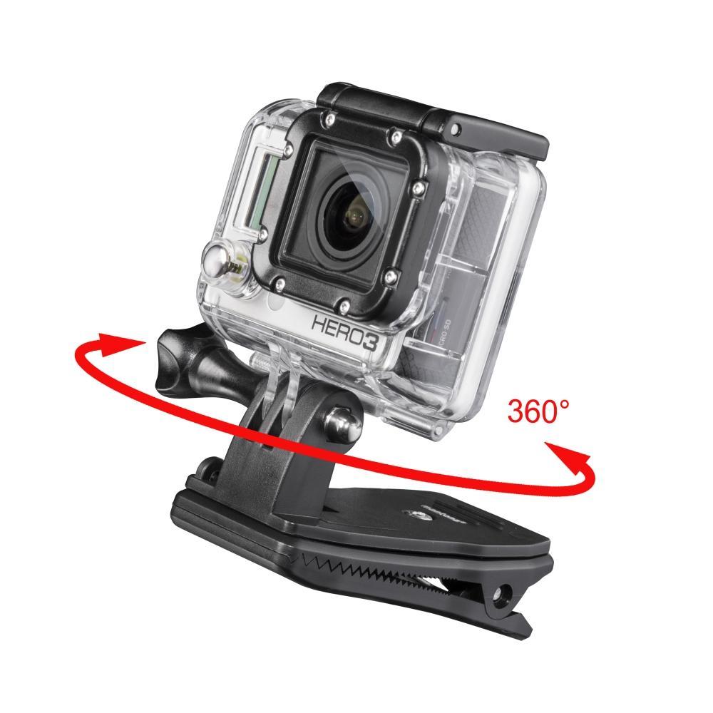 mantona 360° Befestigungsclip für GoPro Adapterkopf um 360 Grad drehbar