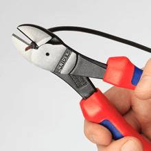 Der Kraft-Seitenschneider eignet sich sehr gut zum Schneiden von U- oder AL-Leitern.