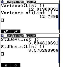 Abbildung Standardabweichung & Varianz