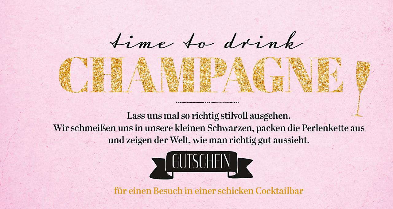 Gutscheinbuch Time to drink champagne and dance on the