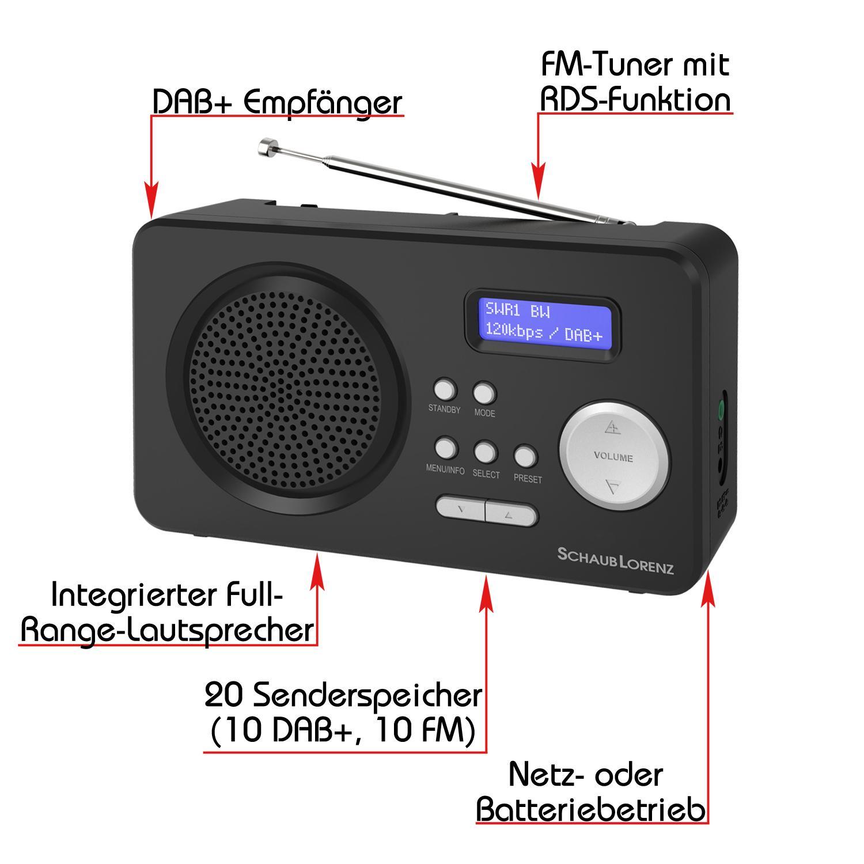 schaub lorenz dab402 tragbares dab digitalradio fm tuner. Black Bedroom Furniture Sets. Home Design Ideas