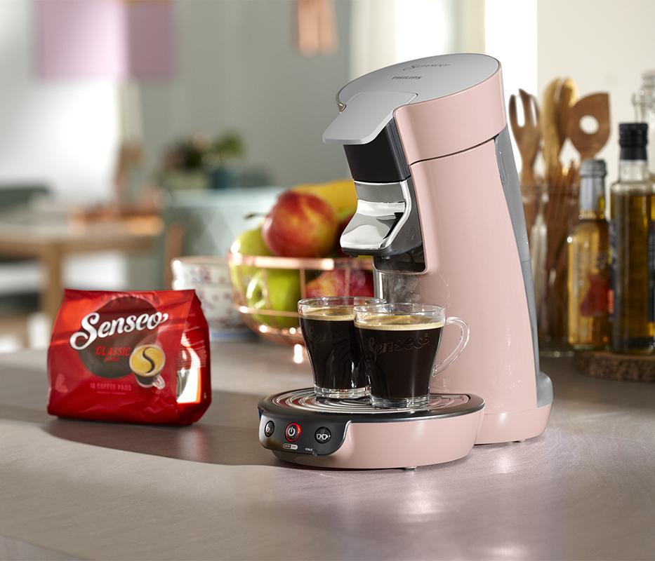 philips senseo viva caf hd7829 30 kaffeepadmaschine 1450 w kaffee boost rosa ebay. Black Bedroom Furniture Sets. Home Design Ideas