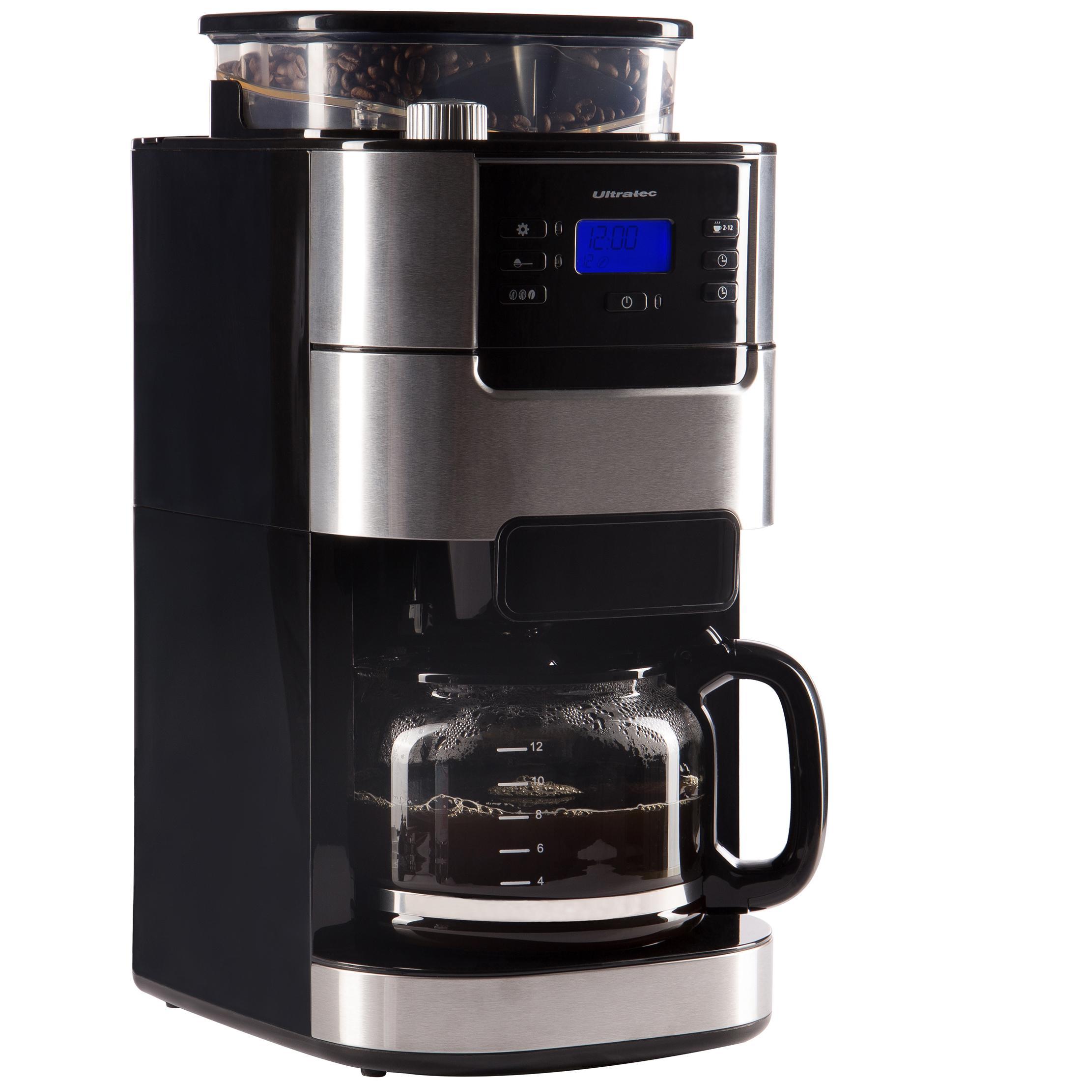 ultratec kaffeemaschine kaffee vollautomat mit mahlwerk und timerfunktion