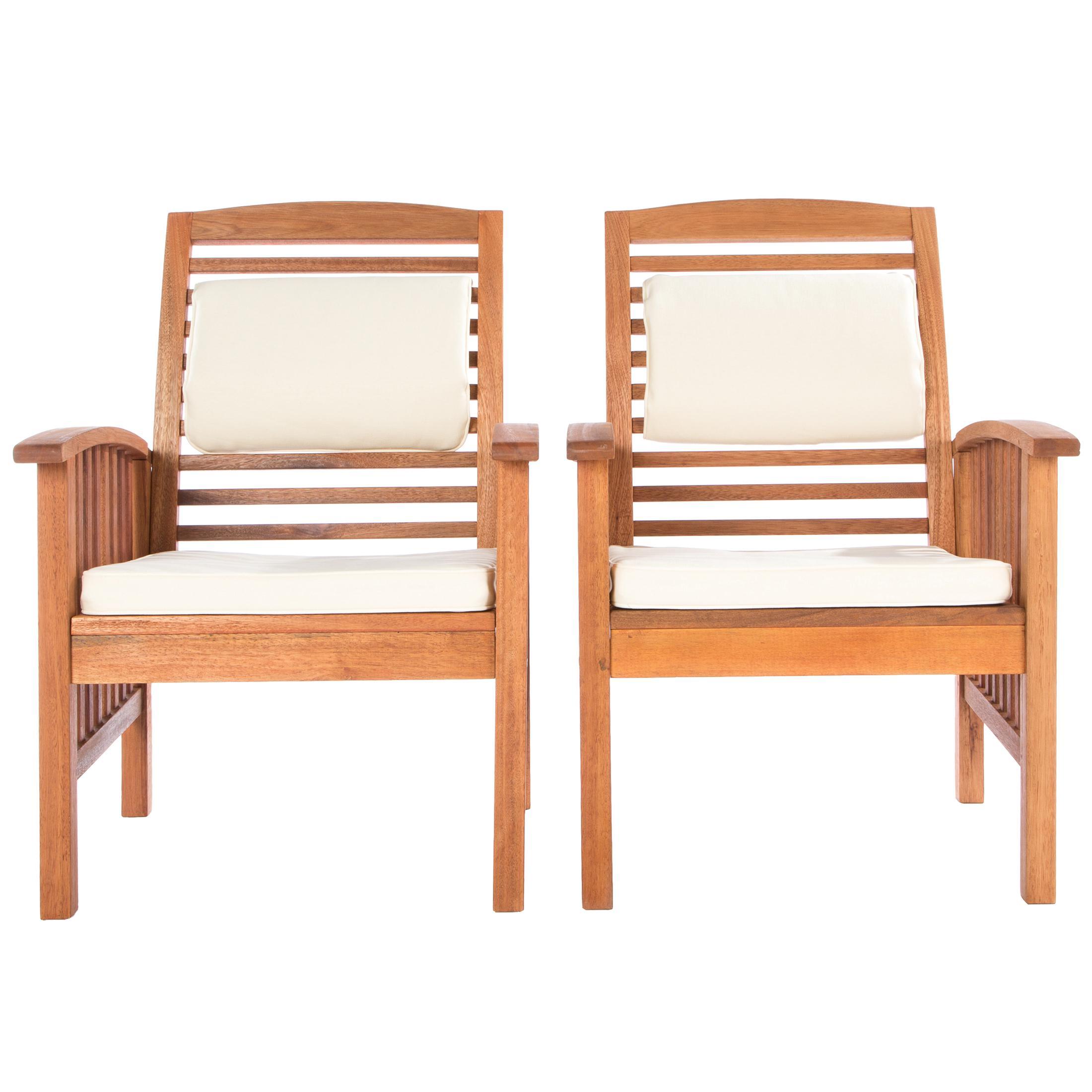 ultranatura loungestuhl 2er set canberra serie edles hochwertiges eukalyptusholz. Black Bedroom Furniture Sets. Home Design Ideas