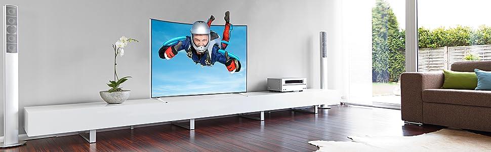 telefunken xu55a441c 140 cm 55 zoll fernseher ultra hd triple tuner 3d smart tv amazon. Black Bedroom Furniture Sets. Home Design Ideas