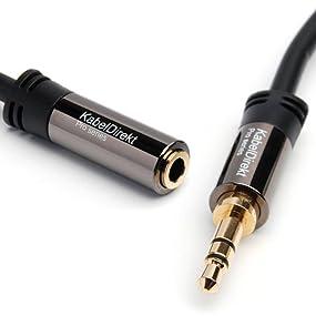 Kabeldirekt Klinken Verlängerungskabel 1m Pro Elektronik