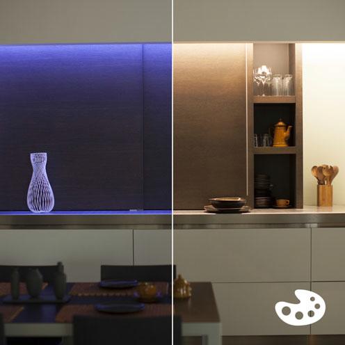 philips hue lightstrip 16 mio farben eek a erweiterung f r basis set 1m ultrahell max 800. Black Bedroom Furniture Sets. Home Design Ideas