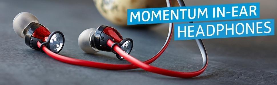 Sennheiser Momentum In-Ear-Kopfhörer für Apple iPhone, schwarz chrome