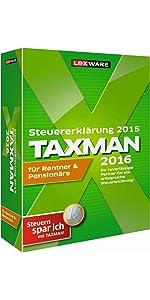 TAXMAN 2016 für Rentner & Pensionäre