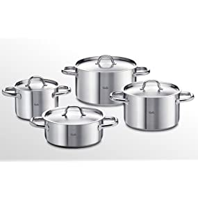 fissler topfset family line 4 teilig edelstahl kochtopf set kocht pfe induktion gas. Black Bedroom Furniture Sets. Home Design Ideas