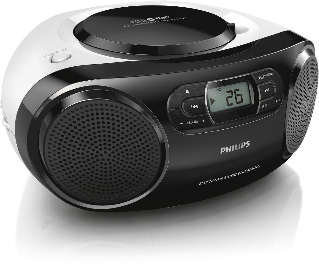 philips az330t cd radiorekorder mit bluetooth cd mp3. Black Bedroom Furniture Sets. Home Design Ideas