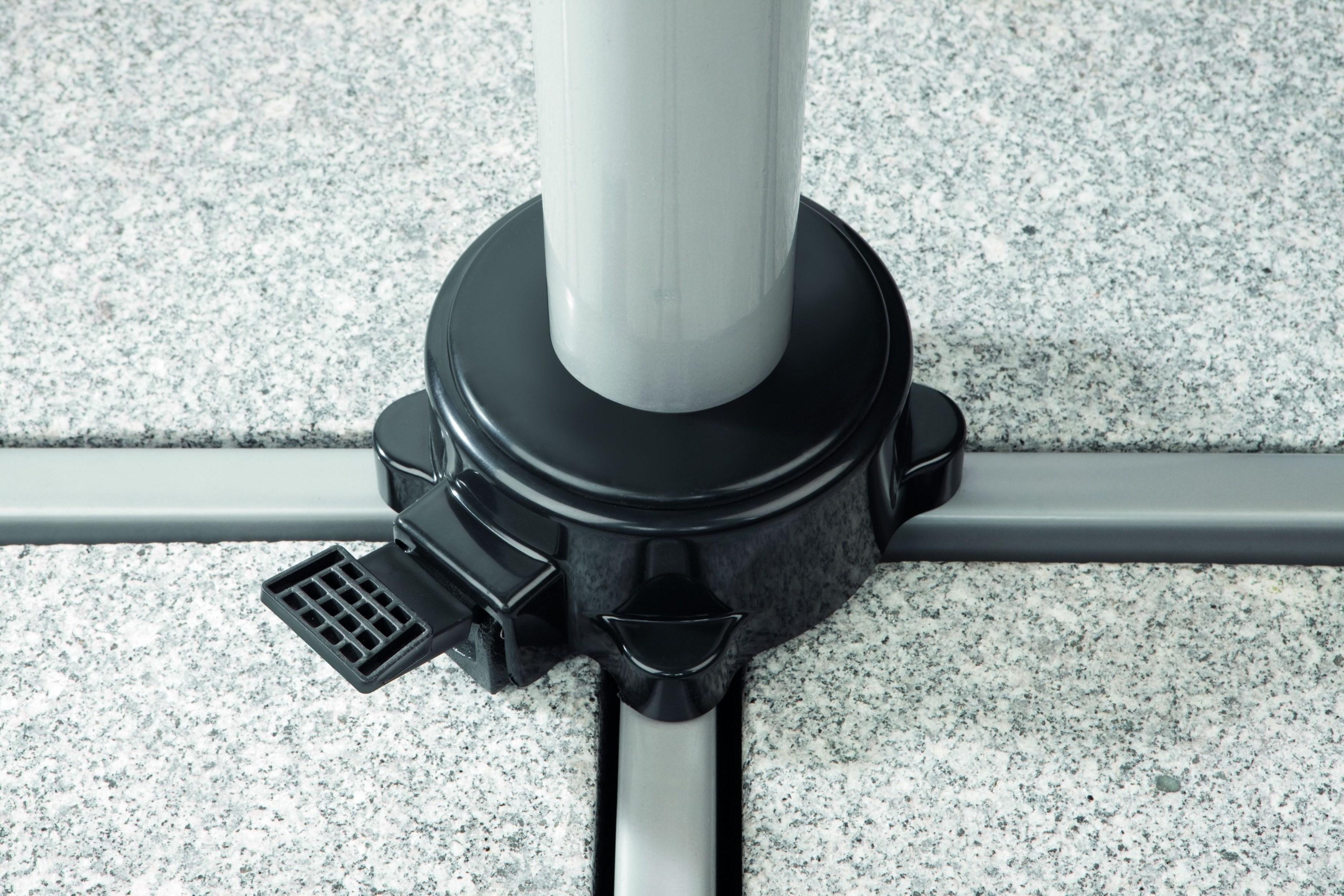 schneider sonnenschirm samos anthrazit 300 cm rund gestell aluminium stahl. Black Bedroom Furniture Sets. Home Design Ideas