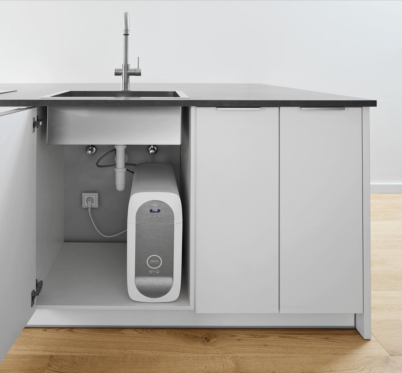grohe blue home duo 2 in 1 trinkwassersystem und k chenarmatur gek hlt gefiltert mit. Black Bedroom Furniture Sets. Home Design Ideas
