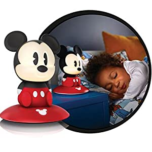 philips disney micky maus led nachtlicht schwarz rot 717093016 beleuchtung. Black Bedroom Furniture Sets. Home Design Ideas