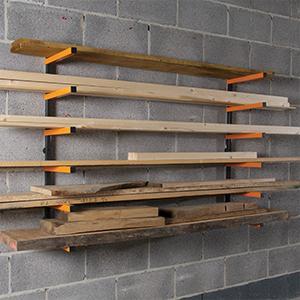 triton 330190 kragarmregal f r holzlagerung baumarkt. Black Bedroom Furniture Sets. Home Design Ideas