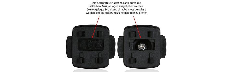 Color Negro Fabricado en Alemania /Soporte de Bicicleta antivibraci/ón Abrazadera para Teasi One3//One2//One//Pro Pulse y Smar.T Power Quick Fix Wicked Chili/